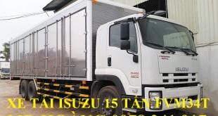 xe tải isuzu 15 tấn fvm34t thùng kín chở pallet