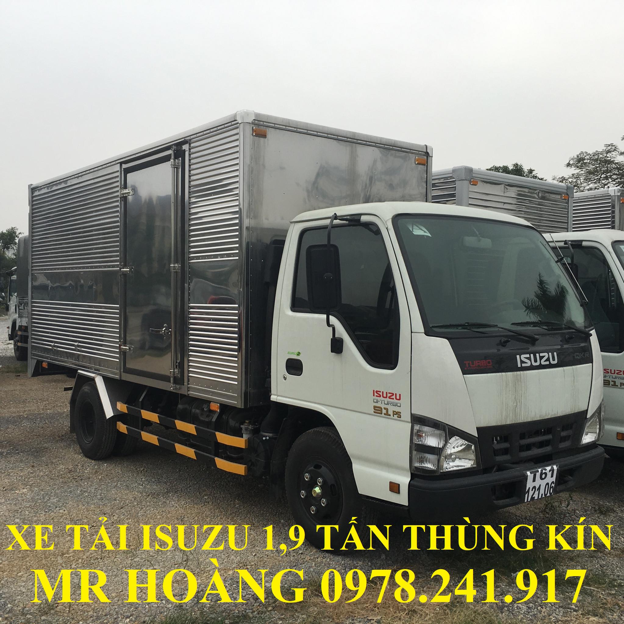 xe tải isuzu 1,9 tấn thùng kín