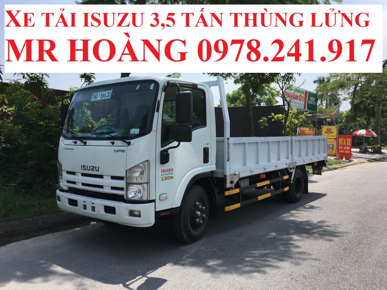 xe tải isuzu 3,5 tấn thùng lửng