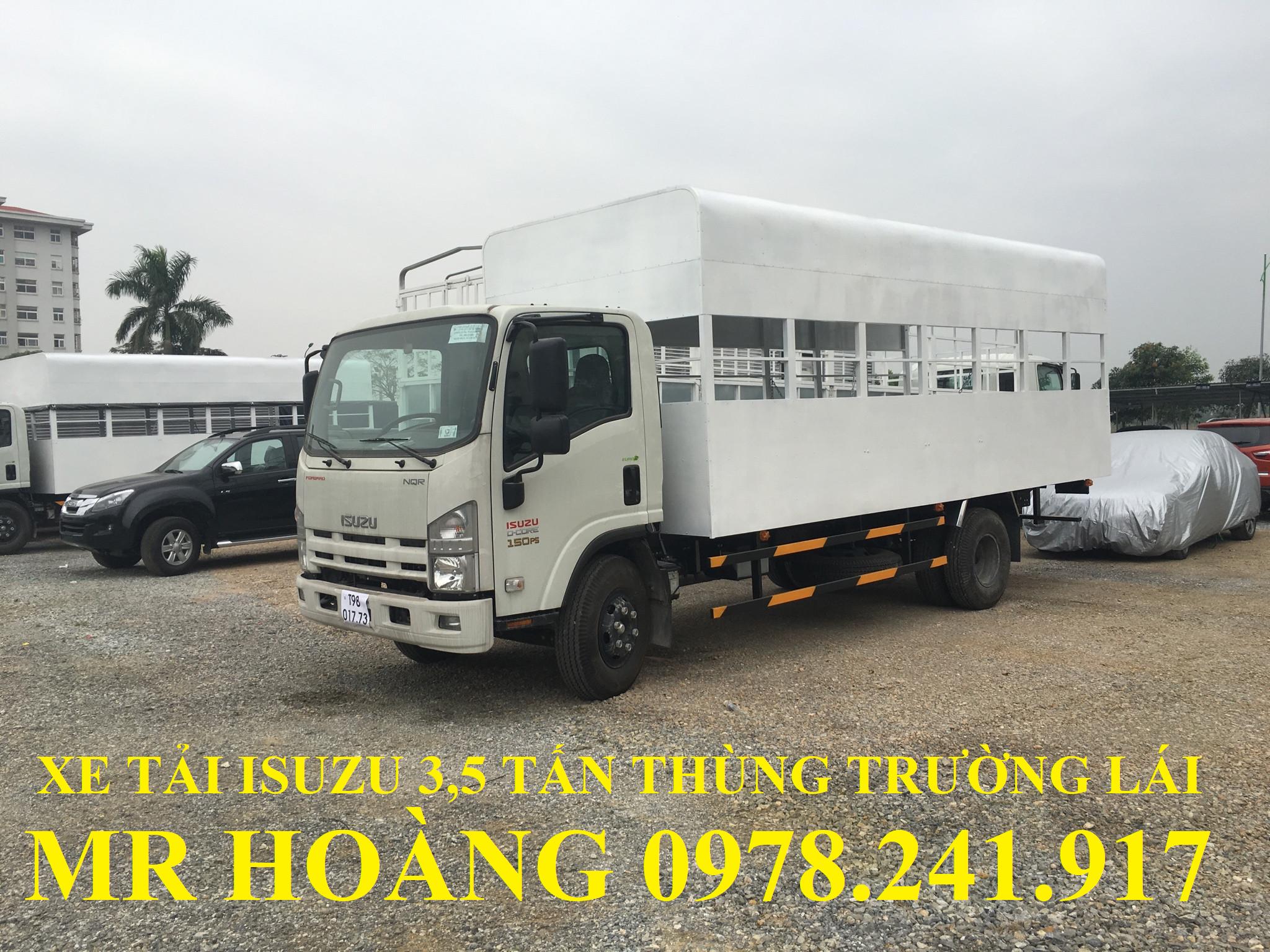 xe tải isuzu 3,5 tấn thùng trường lái