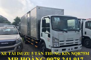 xe tải isuzu 5 tấn nqr75m thùng kín