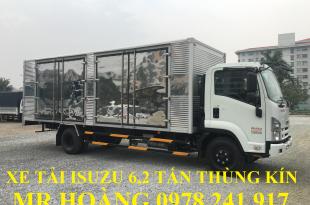 xe tải isuzu 6,2 tấn thùng kín chở pallet