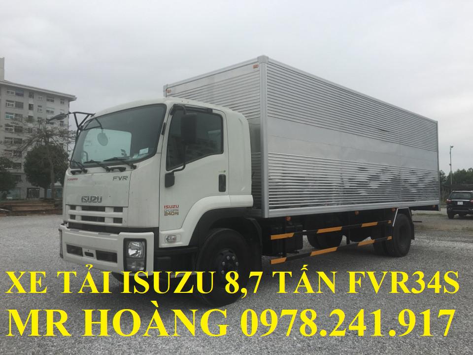 xe tải isuzu 8,7 tấn fvr34s thùng kín dài 8,7 m