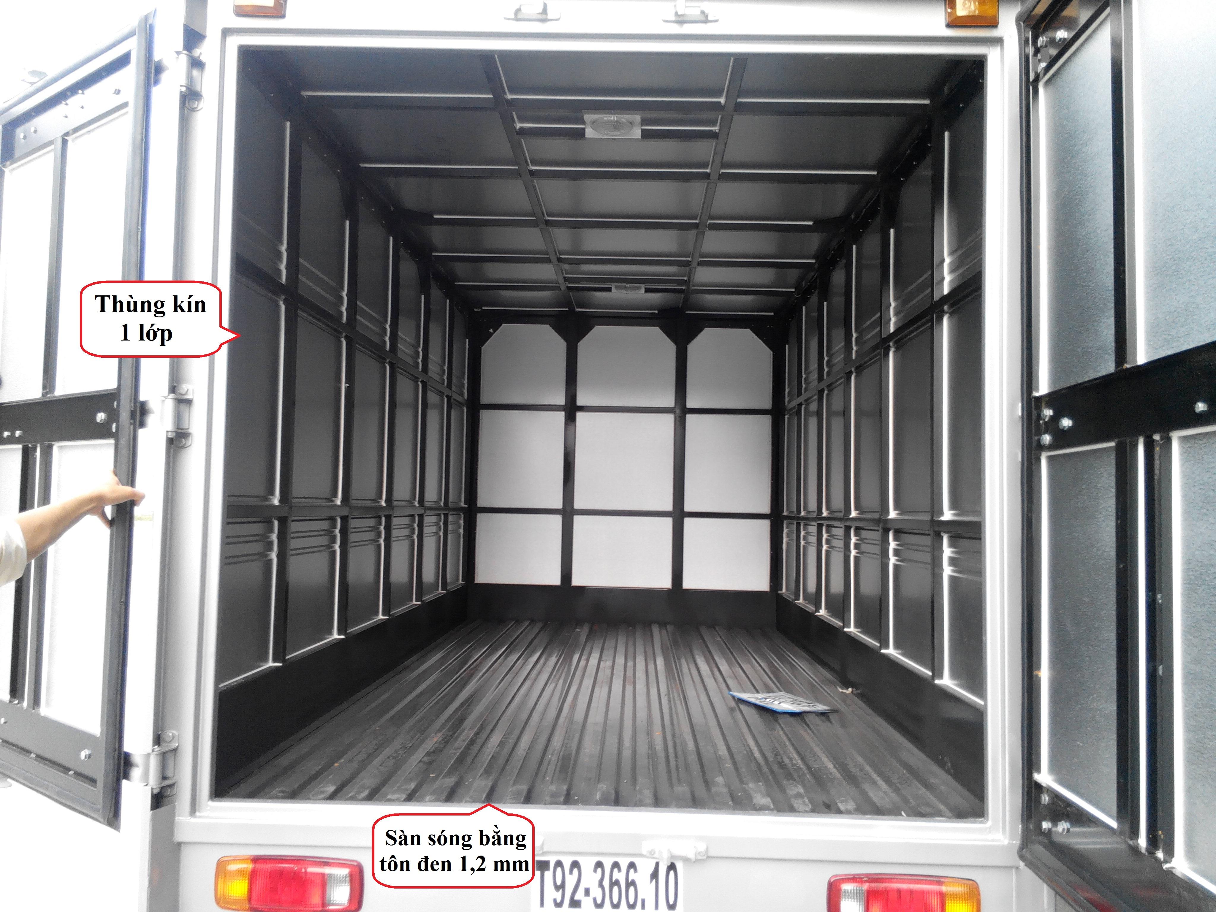 xe tải hyundai 6,4 tấn hd650 kết cấu thùng 2