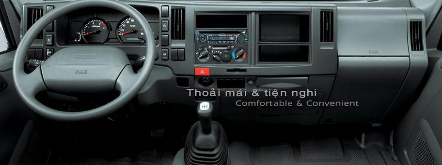 xe tải isuzu 6,5 tấn nâng tải nqr75m-16 táp lô 6 din