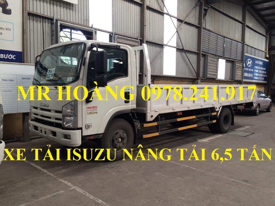 xe tải isuzu 6,5 tấn nâng tải nqr75m-16 thùng lửng