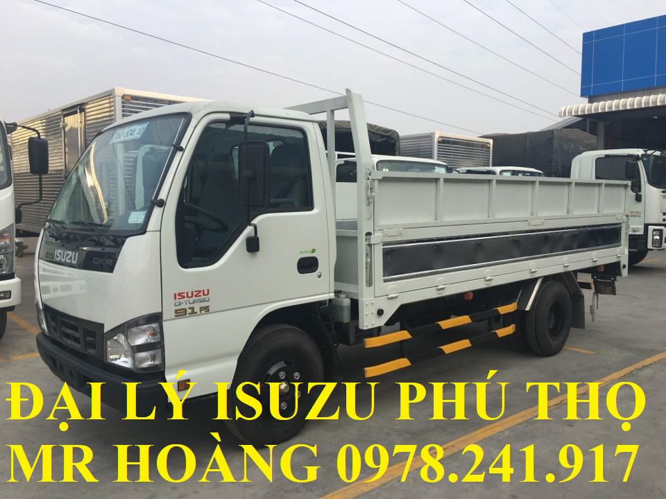 đại lý isuzu phú thọ bán xe tải isuzu 1,9 tấn thùng lửng