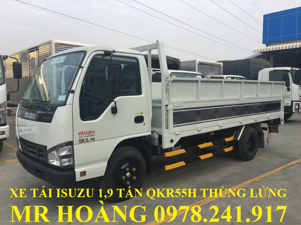 xe tải isuzu 1,9 tấn qkr55h thùng lửng