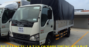 xe tải isuzu 1,9 tấn qkr55h thùng mui bạt