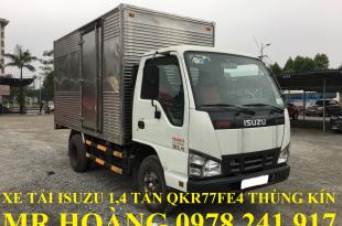 xe tải isuzu 1,4 tấn QKR77FE4 thùng kín