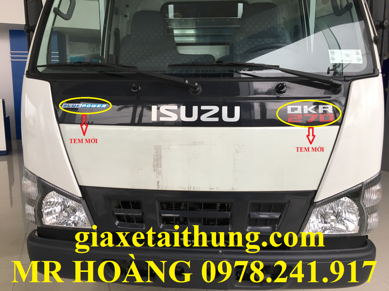xe tải isuzu 1,1 tấn qkr77fe4, bộ tem cánh cửa 2