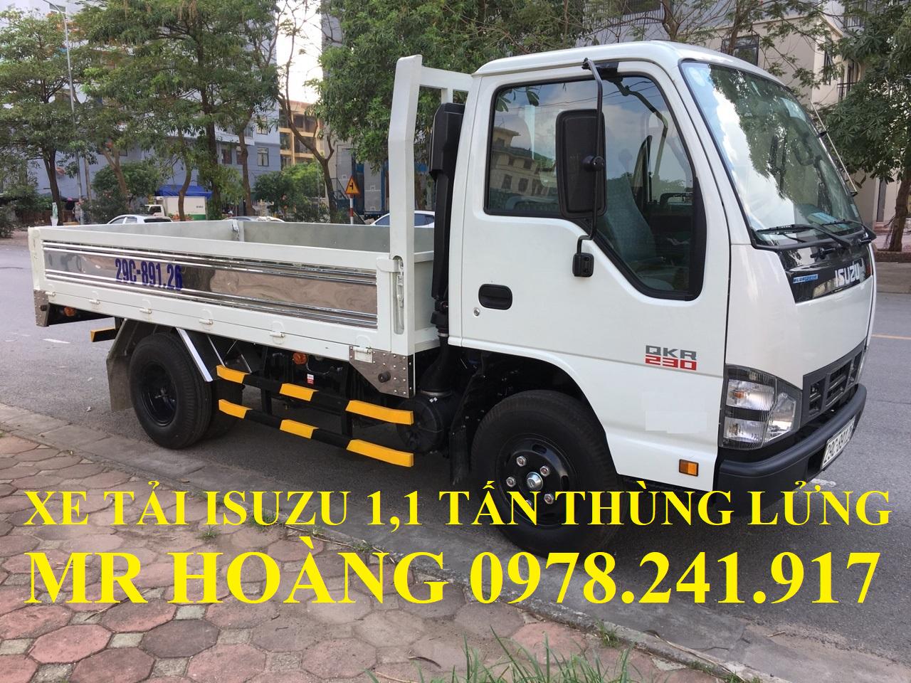 xe tải isuzu 1,1 tấn qkr77fe4 thùng lửng