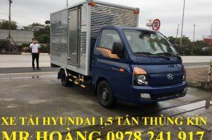 xe tải hyundai 1,5 tấn h150 thùng kín