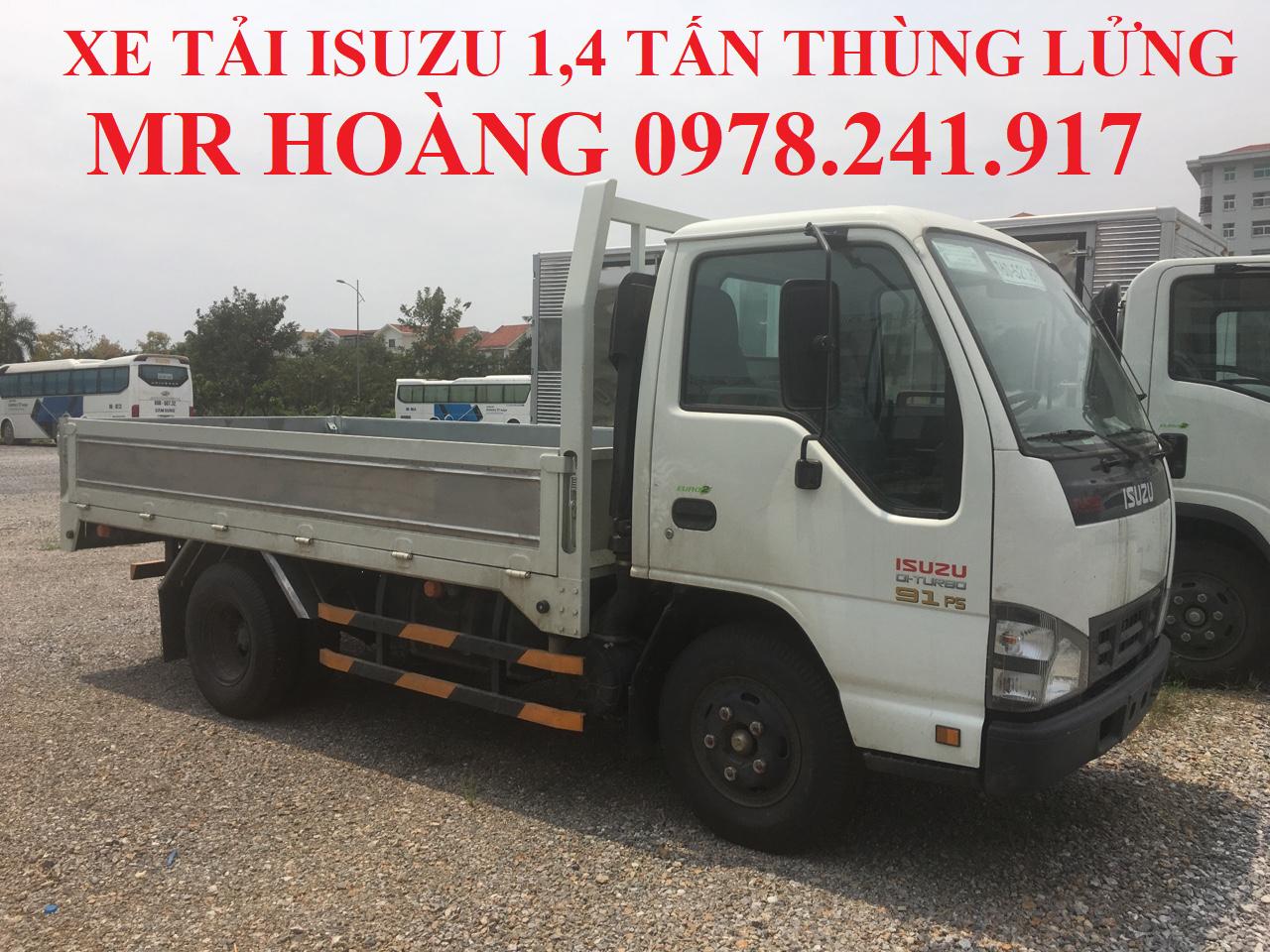xe tải isuzu 1,4 tấn thùng lửng