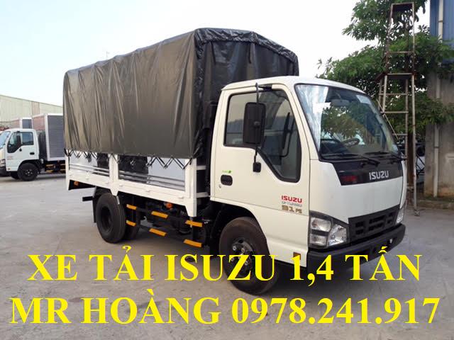 xe tải isuzu 1,4 tấn thùng mui bạt