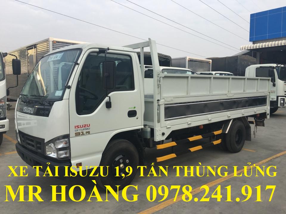 xe tải isuzu 1,9 tấn thùng lửng