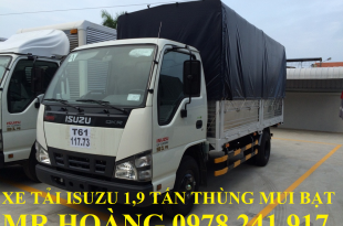 xe tải isuzu 1,9 tấn thùng mui bạt