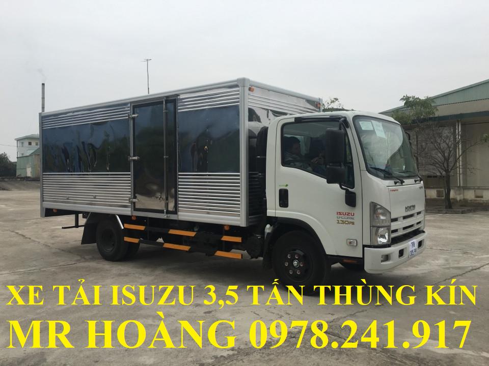 xe tải isuzu 3,5 tấn thùng kín