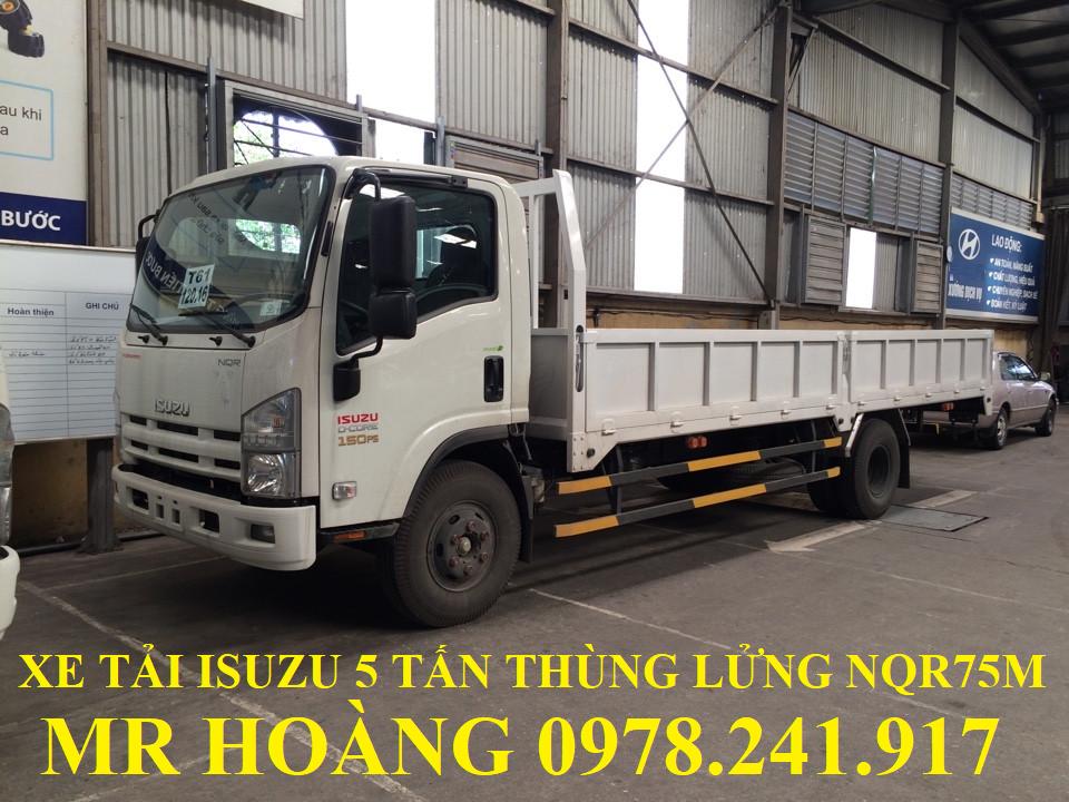 xe tải isuzu 5 tấn thùng lửng nqr75m