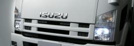 xe tải isuzu 6,2 tấn cụm đèn pha trước