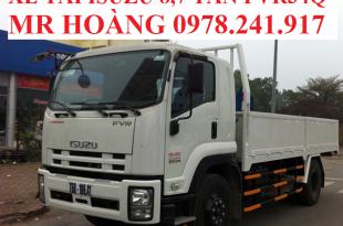xe tải isuzu 8,7 tấn fvr34q thùng lửng ngắn 7,6 m