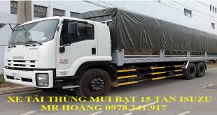 Xe tải Isuzu 15 tấn FVM34W thùng dài 9.6 m