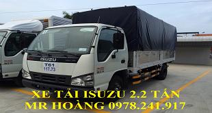 Xe tải Isuzu 2.2 tấn thùng dài 4.4 m