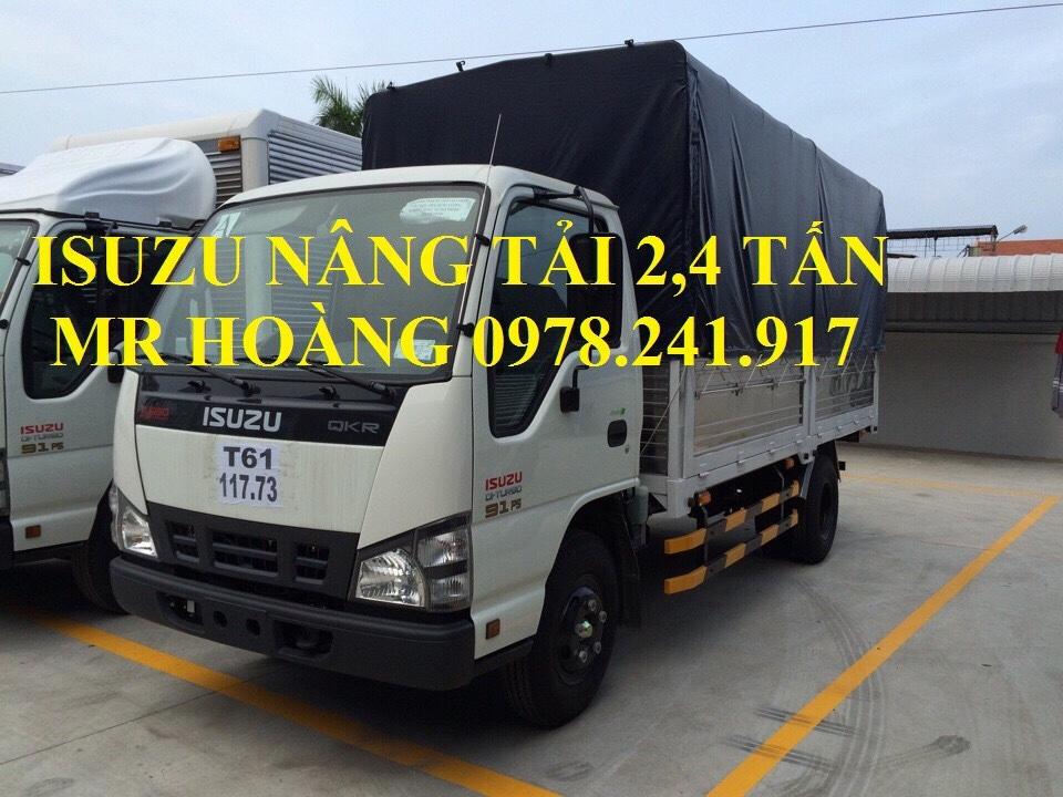 Bán xe tải isuzu 2,4 tấn nâng tải QKR55F trả góp giá 100 triệu
