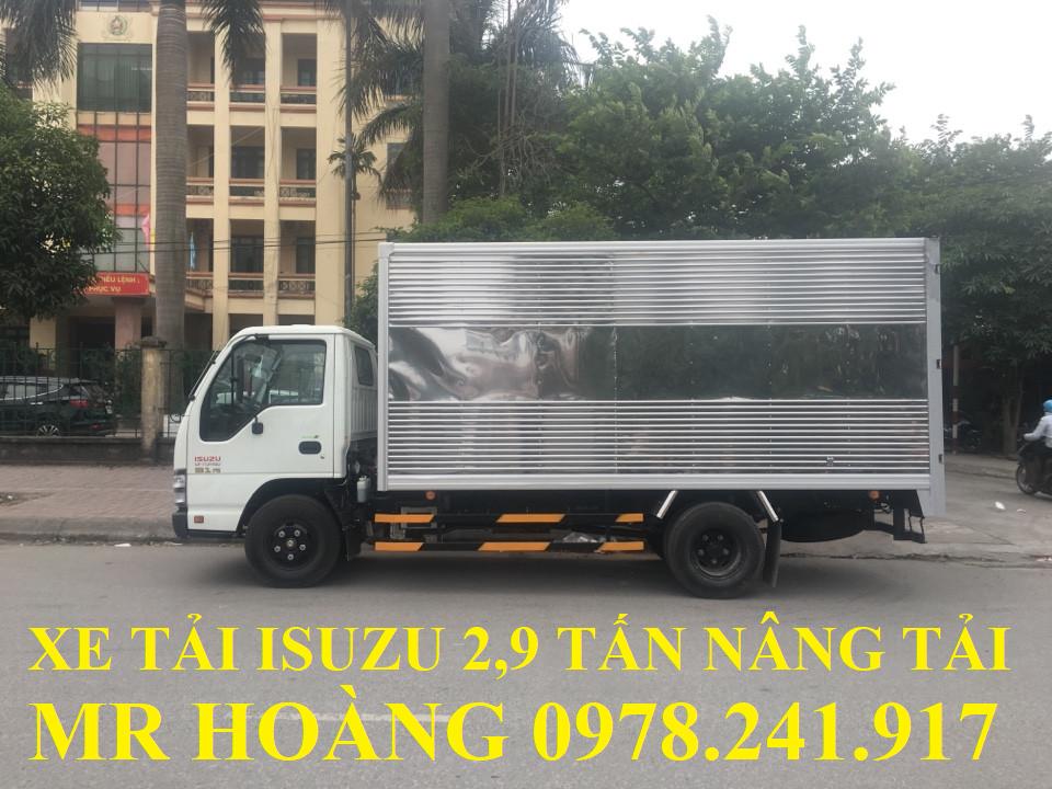 xe tải isuzu 2,9 tấn nâng tải qkr55h-16 thùng kín