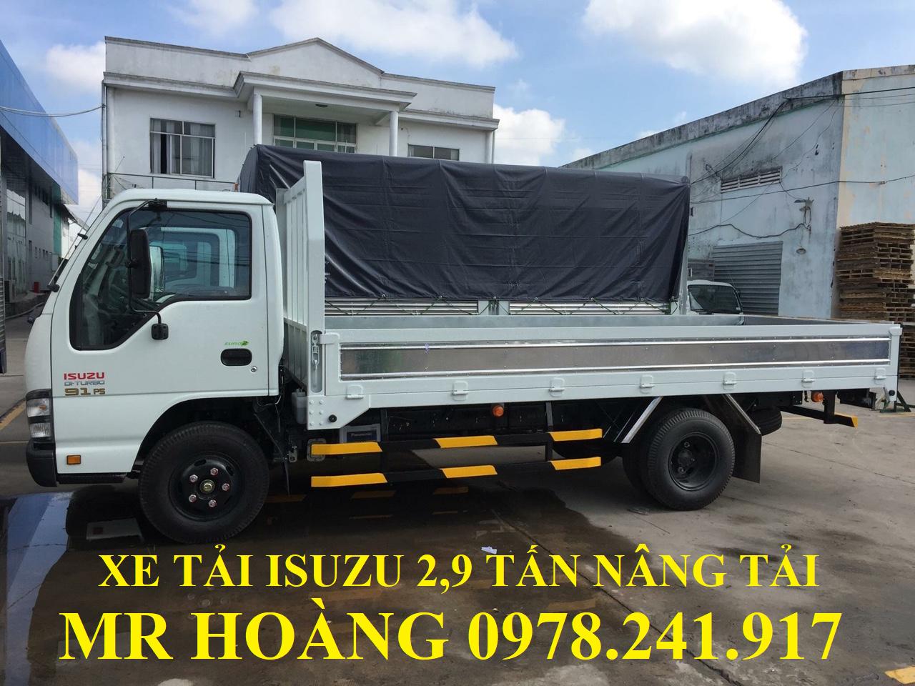 xe tải isuzu 2,9 tấn nâng tải qkr55h-16 thùng lửng