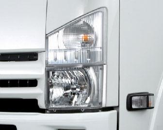 xe tải isuzu 6,5 tấn nâng tải nqr75m-16 cụm đèn pha halogen lớn