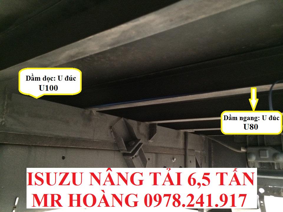 xe tải isuzu 6,5 tấn nâng tải nqr75m-16 kết cấu thùng 2