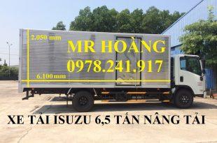 xe tải isuzu 6,5 tấn nâng tải nqr75m-16 kích thước thùng