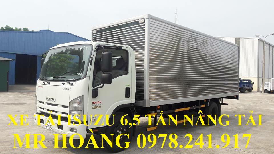 xe tải isuzu 6,5 tấn nâng tải nqr75m-16 thùng kín