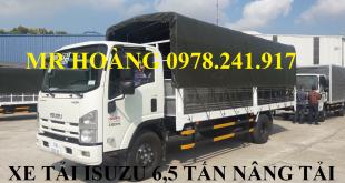 xe tải isuzu 6,5 tấn nâng tải nqr75m-16 thùng mui bạt