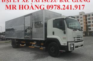 đại lý xe tải isuzu tại bắc giang, xe tải isuzu 9 tấn thùng kín