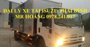 đại lý xe tải isuzu tại thái bình, xe tải isuzu 5 tấn thùng kín