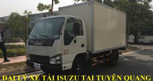 đại lý xe tải isuzu tại tuyên quang, xe tải isuzu 1,4 tấn thùng kín
