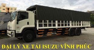 đại lý xe tải isuzu tại vĩnh phúc, xe tải isuzu 15 tấn thùng mui bạt