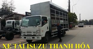 xe tải isuzu thanh hóa, xe tải isuzu 5 tấn chở xe máy, xe đạp điện