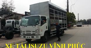 xe tải isuzu vĩnh phúc, xe tải isuzu 3,5 tấn thùng chở xe máy, xe đạp điện