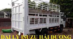 đại lý isuzu hải dương bán xe tải isuzu 2,4 tấn thùng chở gia súc