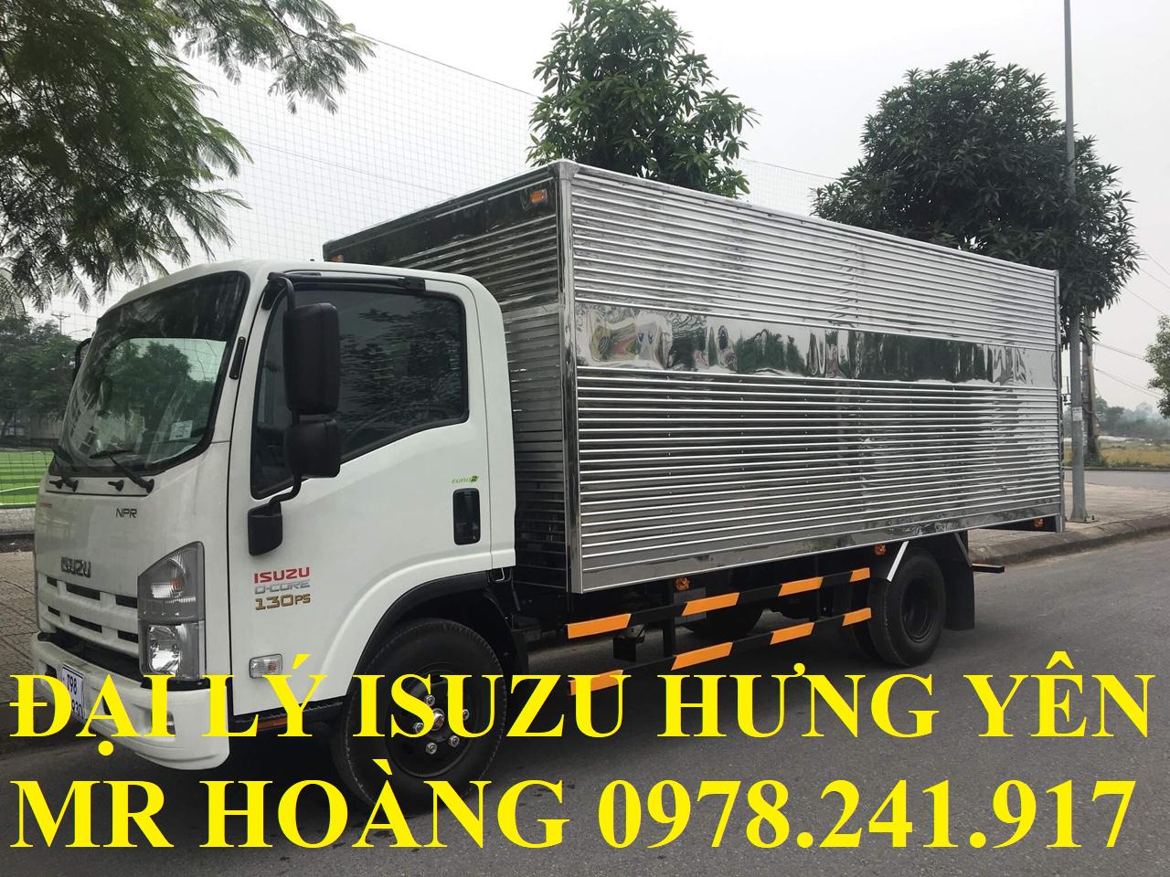 đại lý isuzu hưng yên bán xe tải isuzu 3,5 tấn thùng kín
