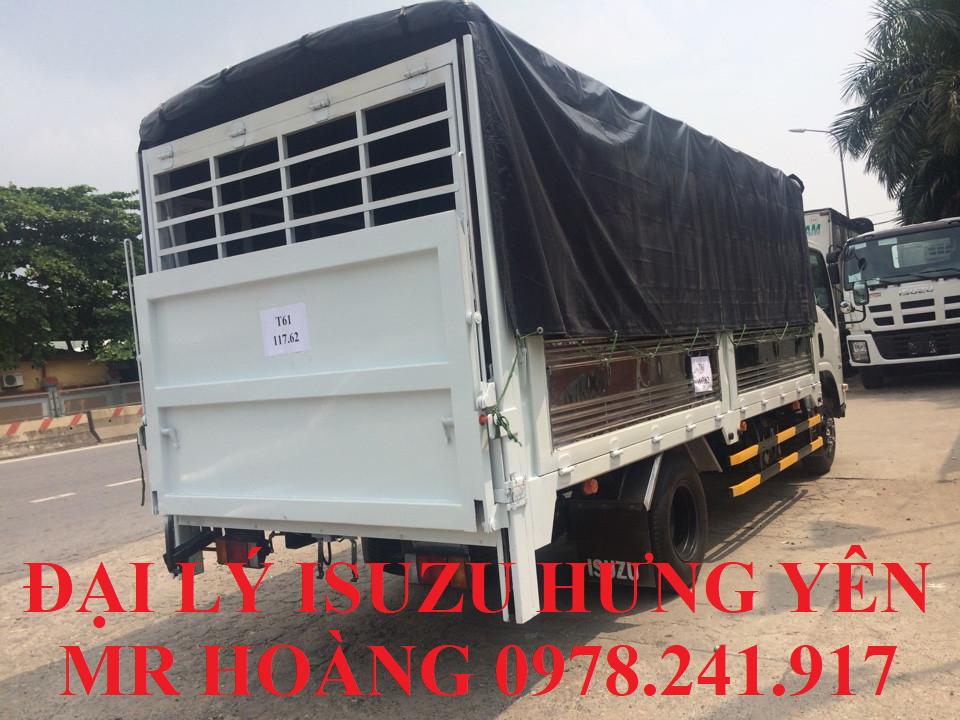 đại lý isuzu hưng yên bán xe tải isuzu 3,5 tấn thùng mui bạt gắn bửng nâng