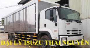 đại lý isuzu thái nguyên bán xe tải isuzu 15 tấn thùng kín chở pallet