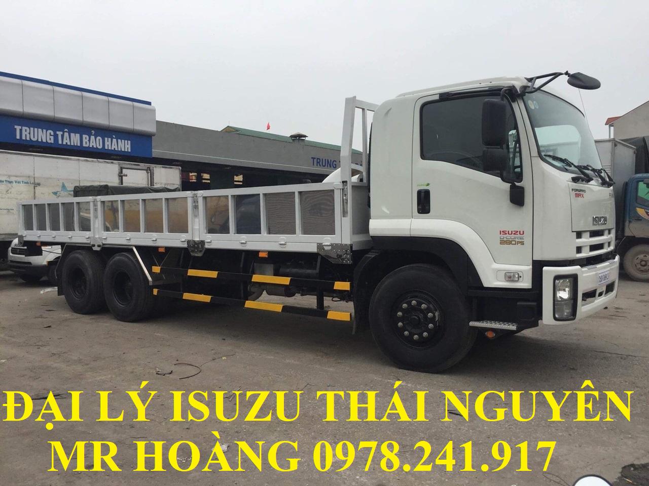 đại lý isuzu thái nguyên bán xe tải isuzu 15 tấn thùng lửng