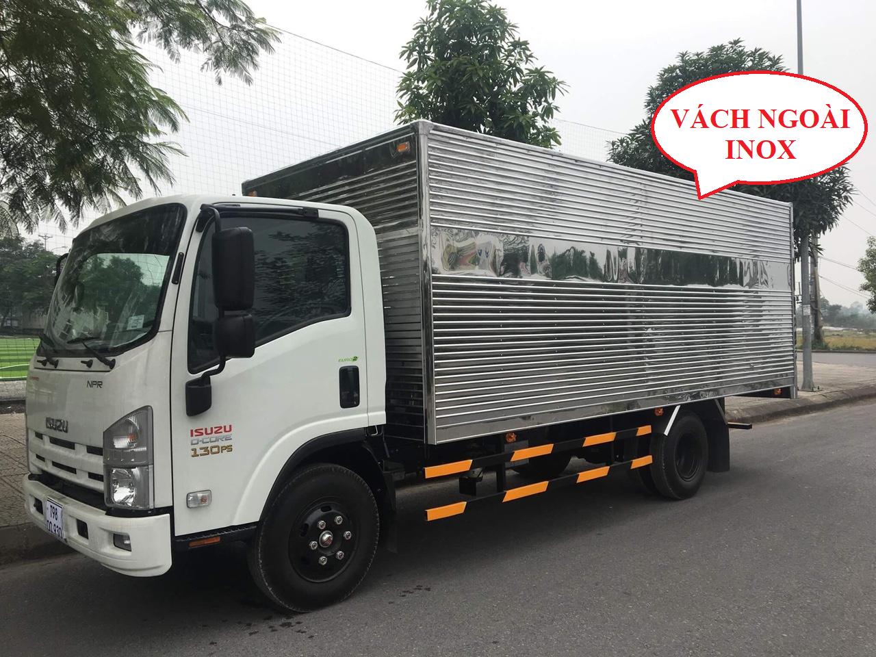 xe tải isuzu 3,5 tấn npr85k thùng kín inox
