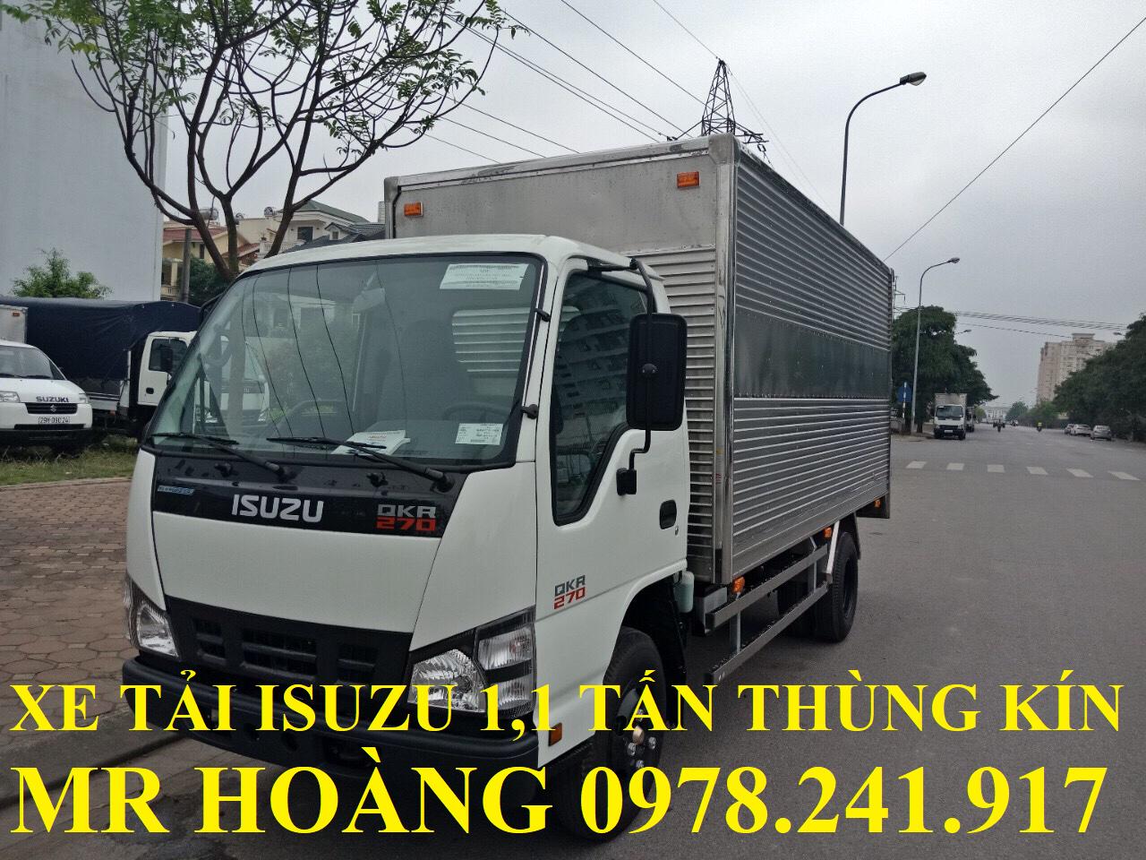 xe tải isuzu 1,1 tấn qkr77fe4 thùng kín
