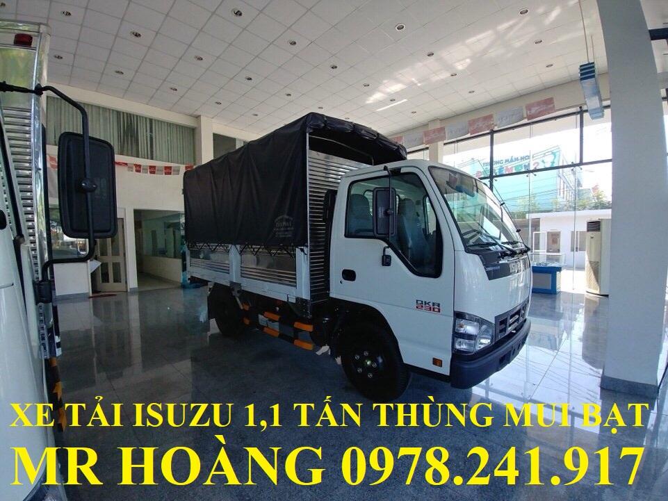 xe tải isuzu 1,1 tấn qkr77fe4 thùng mui bạt