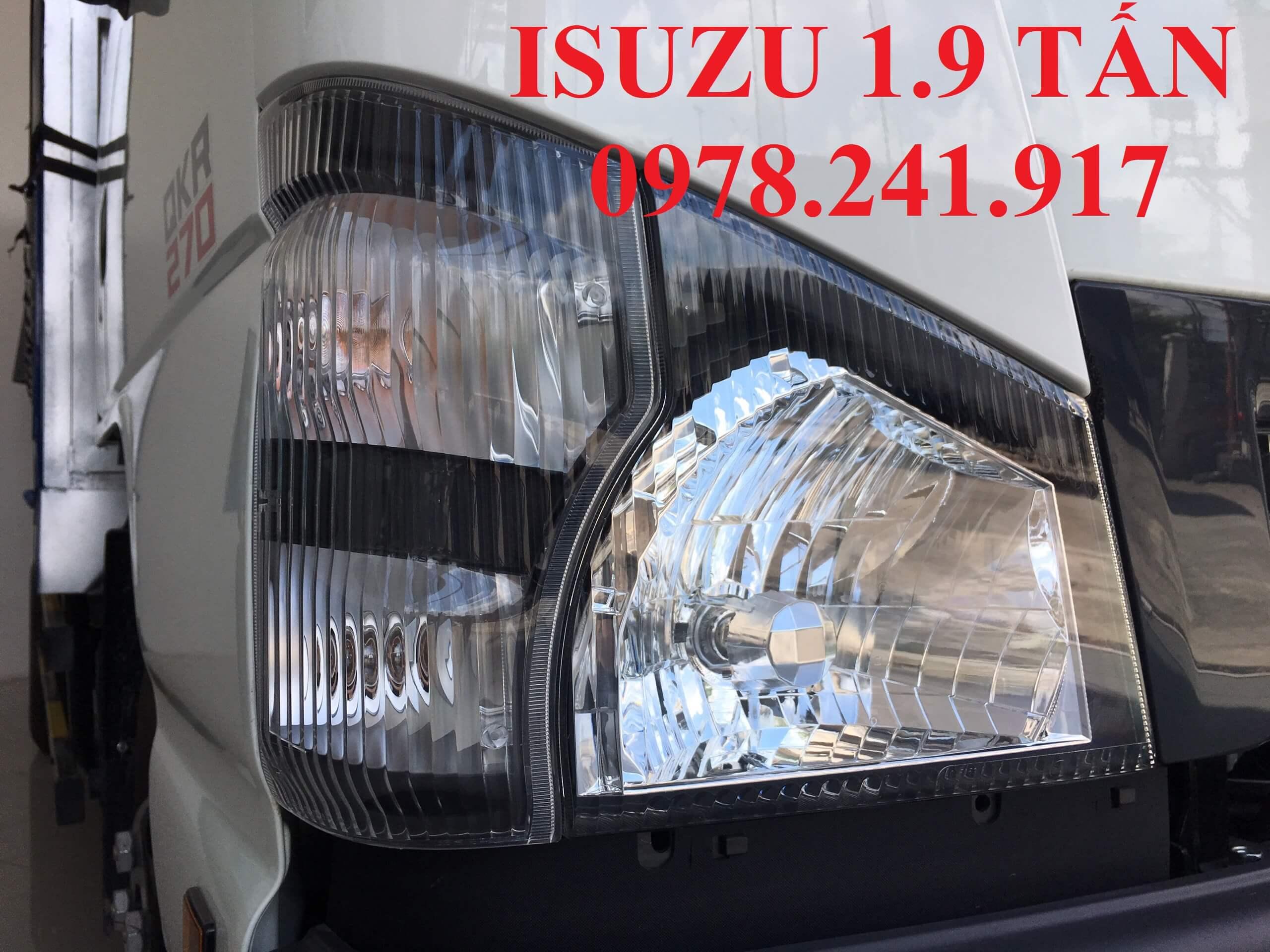 xe tải isuzu 1.9 tấn cụm đèn pha